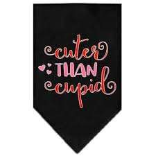Mirage Pet Products Cuter Than Cupid Valentine's Dog Bandana Small / Black