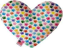 "Load image into Gallery viewer, Mirage Pet Products Valentine's Day Heart Stuffed Dog Toy 6"" / Confetti Paws"
