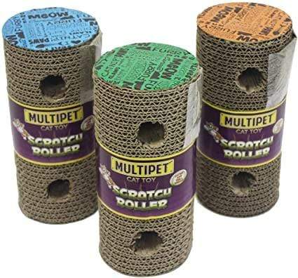 Multipet Multipet Scratch and Play Cat Roller - 7.5""