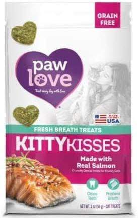 Paw Love Paw Love Grain Free Salmon Kitty Kisses Fresh Breath Cat Treats - 2 oz.