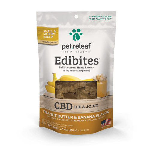 Pet Releaf Pet Releaf Edibites Peanut Butter & Banana CBD Treats for Dogs Standard (30-33 treats)