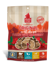 Load image into Gallery viewer, Plato Plato Original Turkey with Cranberry Real Strips Dog Treats