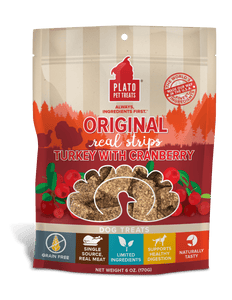 Plato Plato Original Turkey with Cranberry Real Strips Dog Treats