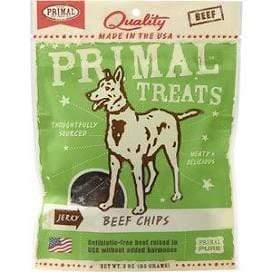 Primal Pet Foods Primal Beef Chips Jerky Dog Treats - 3 oz. bag