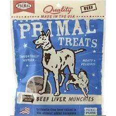 Primal Pet Foods Primal Beef Liver Munchies Freeze-Dried Dog & Cat Treats - 2 oz. bag