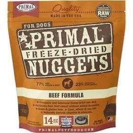 Primal Pet Foods Primal Beef Nuggets Grain-Free Raw Freeze-Dried Dog Food 14 oz.