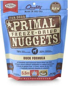 Primal Pet Foods Primal Duck Nuggets Grain-Free Raw Freeze-Dried Dog Food 5.5 oz.