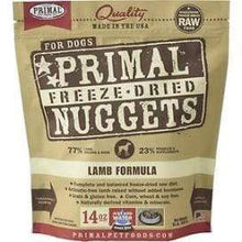 Load image into Gallery viewer, Primal Pet Foods Primal Lamb Nuggets Grain-Free Raw Freeze-Dried Dog Food 14 oz.