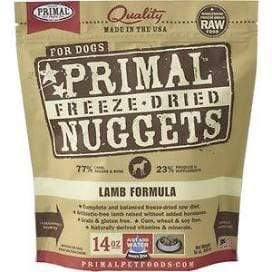 Primal Pet Foods Primal Lamb Nuggets Grain-Free Raw Freeze-Dried Dog Food 14 oz.