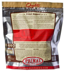 Primal Pet Foods Primal Lamb Nuggets Grain-Free Raw Freeze-Dried Dog Food