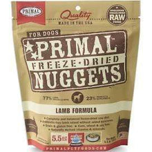 Load image into Gallery viewer, Primal Pet Foods Primal Lamb Nuggets Grain-Free Raw Freeze-Dried Dog Food 5.5 oz.