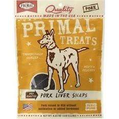 Primal Pet Foods Primal Pork Liver Snaps Dry Roasted Dog Treats - 4.25 oz. bag