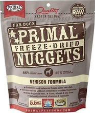 Load image into Gallery viewer, Primal Pet Foods Primal Venison Nuggets Grain-Free Raw Freeze-Dried Dog Food 5.5 oz.