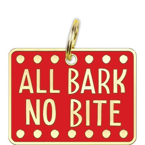 Primitives by Kathy All Bark No Bite Dog Collar Charm