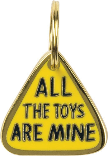 Primitives by Kathy All the Toys are Mine Cat Collar Charm