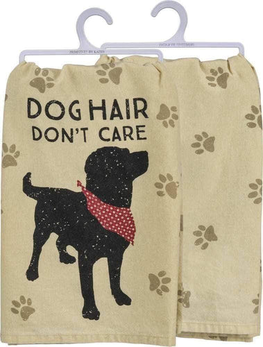 Primitives by Kathy Dog Hair Don't Care - Dish Towel