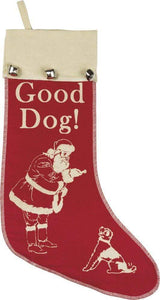 Primitives by Kathy Good Dog Christmas Stocking