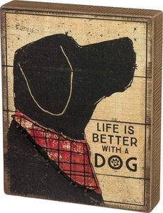 Primitives by Kathy Life is Better With a Dog - String Art Box Sign