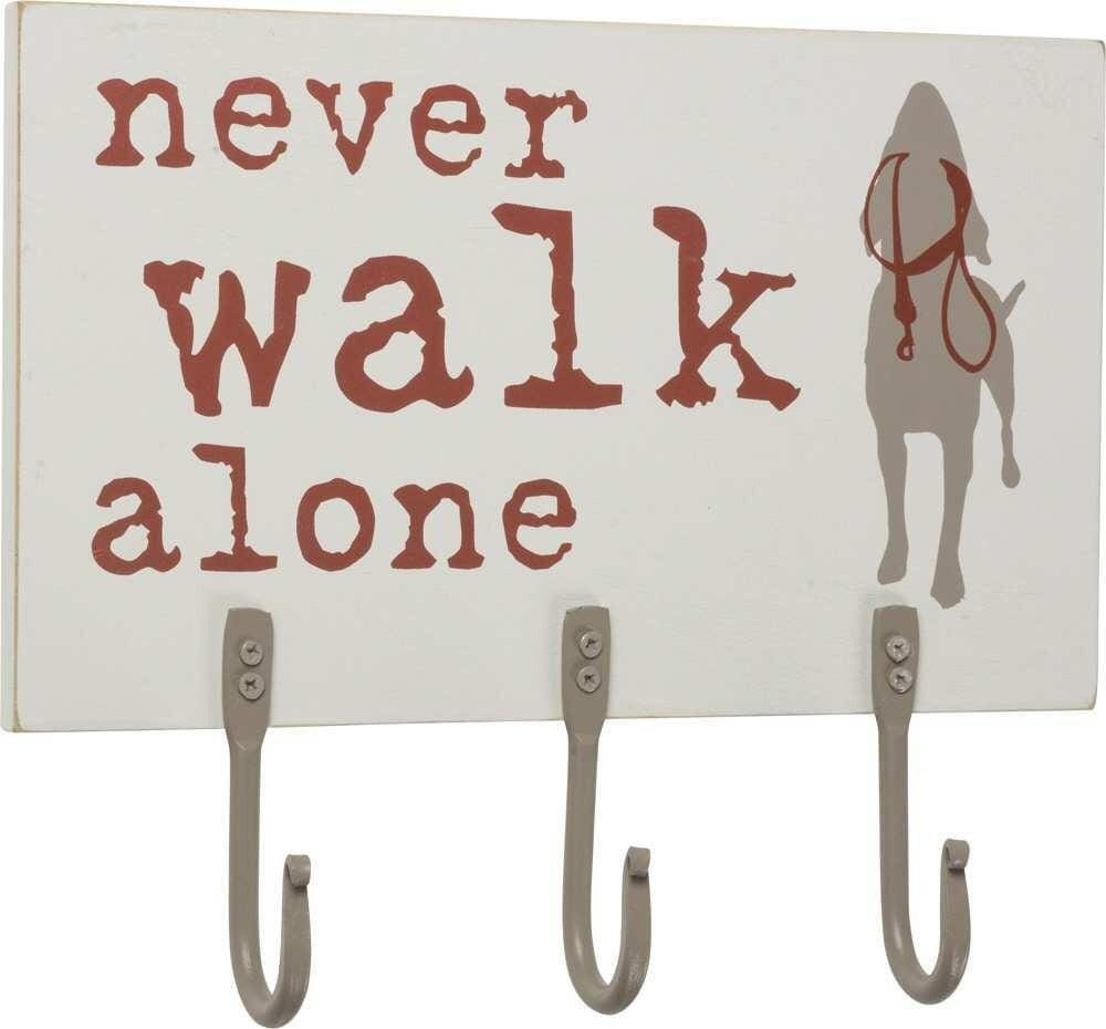 Primitives by Kathy Never Walk Alone - Dog Leash Hook Board