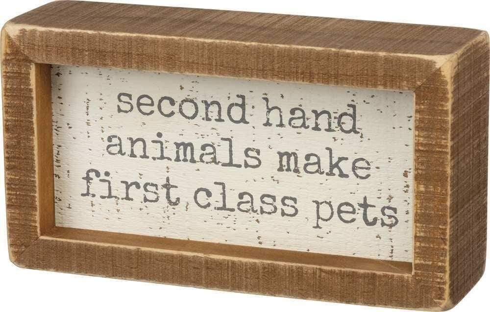 Primitives by Kathy Second Hand Animals - Box Sign