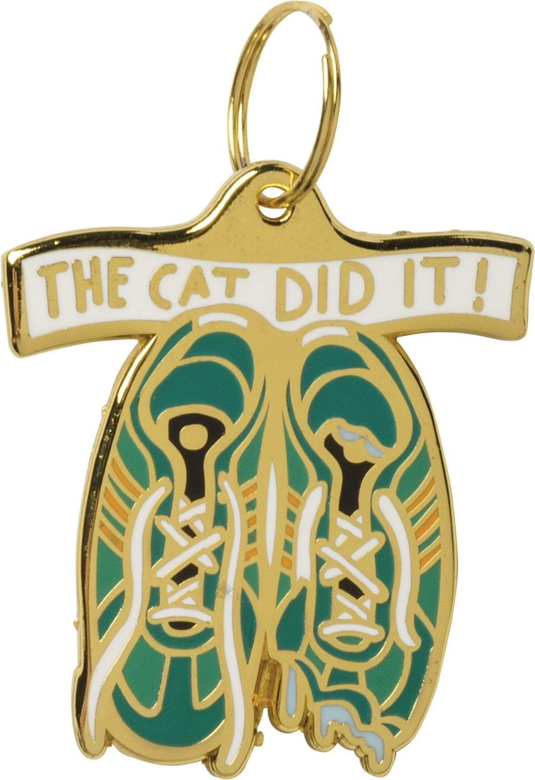Primitives by Kathy The Cat Did It! Dog Collar Charm