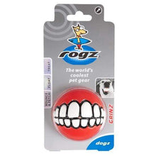 Load image into Gallery viewer, Rogz Rogz Grinz Ball Dog Toy