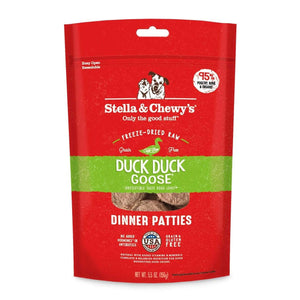 Stella & Chewy's Stella and Chewy's Duck Duck Goose Dinner Patties Grain-Free Freeze-Dried Raw Dog Food 5.5 oz.