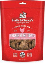 Load image into Gallery viewer, Stella & Chewy's Stella & Chewy's Chicken Hearts Grain-Free Freeze-Dried Raw Dog Treats 3 oz.