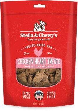 Stella & Chewy's Stella & Chewy's Chicken Hearts Grain-Free Freeze-Dried Raw Dog Treats 3 oz.