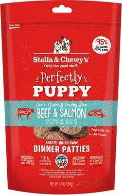 Stella & Chewy's Stella & Chewy's Perfectly Puppy Beef & Salmon Dinner Patties Grain-Free Freeze-Dried Raw Dog Food 14 oz.