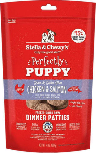 Stella & Chewy's Stella & Chewy's Perfectly Puppy Chicken & Salmon Dinner Patties Grain-Free Freeze-Dried Raw Dog Food 14 oz.