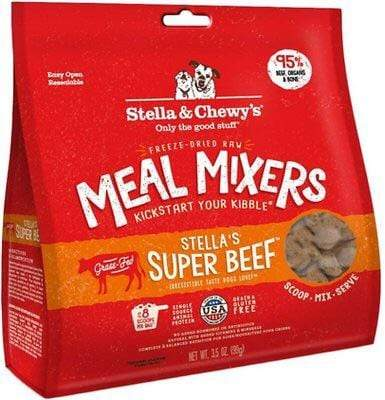 Stella & Chewy's Stella & Chewy's Stella's Super Beef Meal Mixers Grain-Free Freeze-Dried Raw Dog Food Topper