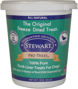 Stewart Stewart Pro-Treat Duck Liver Dog Treats - 3 oz. tub