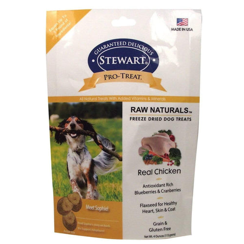 Stewart Stewart Raw Naturals Pro-Treat Chicken Recipe Dog Treats - 4 oz. bag
