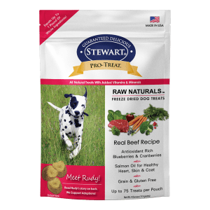 Stewart Stewart Raw Naturals Pro-Treat Dog Treats Beef Recipe - 4 oz. bag
