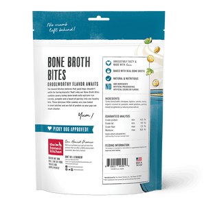 The Honest Kitchen The Honest Kitchen Bone Broth Bites Turkey Bone Broth, Pumpkin & Parsley Recipe Dog Treats - 8 oz. bag