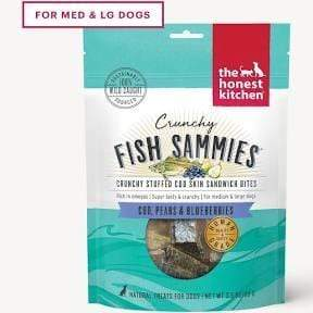 The Honest Kitchen The Honest Kitchen Crunchy Fish Sammies Cod Stuffed with Pears & Blueberries Dehydrated Dog Treats - 3.5 oz. bag