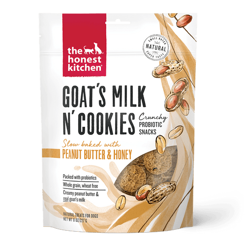 The Honest Kitchen The Honest Kitchen Goat's Milk N' Cookies Slow Baked with Peanut Butter & Honey Recipe Dog Treats - 8 oz. bag