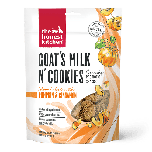 The Honest Kitchen The Honest Kitchen Goat's Milk N' Cookies Slow Baked with Pumpkin & Cinnamon Recipe Dog Treats - 8 oz. bag