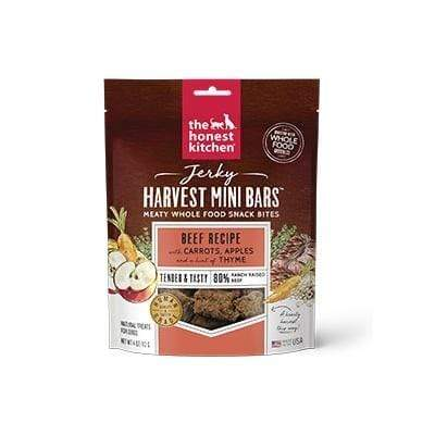 The Honest Kitchen The Honest Kitchen Jerky Harvest Mini Bars Beef Recipe with Carrots & Apples Dog Treats - 4 oz. bag