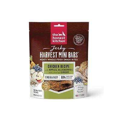 The Honest Kitchen The Honest Kitchen Jerky Harvest Mini Bars Chicken Recipe with Apples & Blueberries Dog Treats - 4 oz. bag