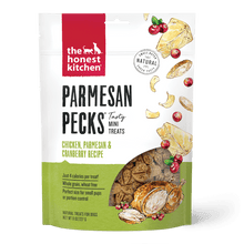 Load image into Gallery viewer, The Honest Kitchen The Honest Kitchen Parmesan Pecks Chicken, Parmesan & Cranberry Recipe Dog Treats - 8 oz. bag