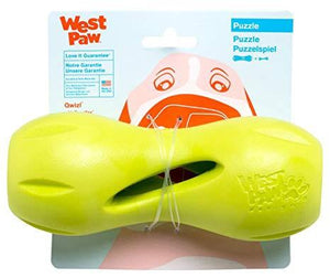"West Paw West Paw Qwizl Dog Toy Small - 5.5"" / Jungle Green"
