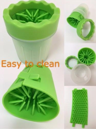 Silicone Paw Washer Cup - Kultur•Vultur -Green / S