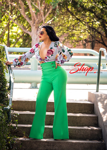 Green Goddess Super High Waisted Pants