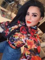 Lady Like Floral Blouse