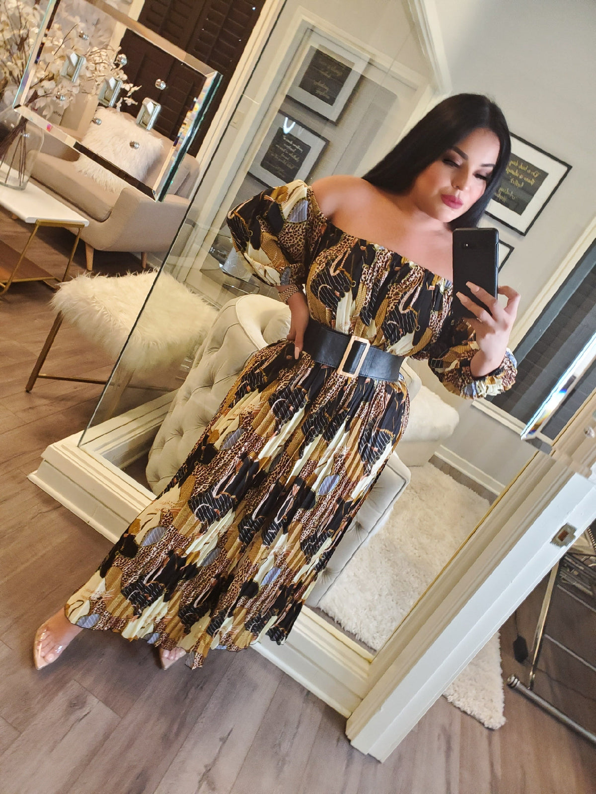 Harlow Mix Print Maxi Dress