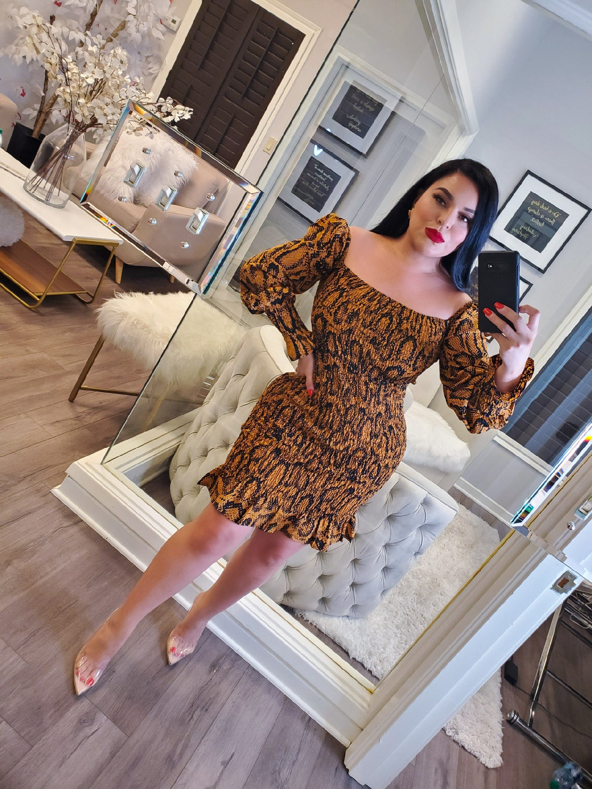 Soraya Snake Print Dress