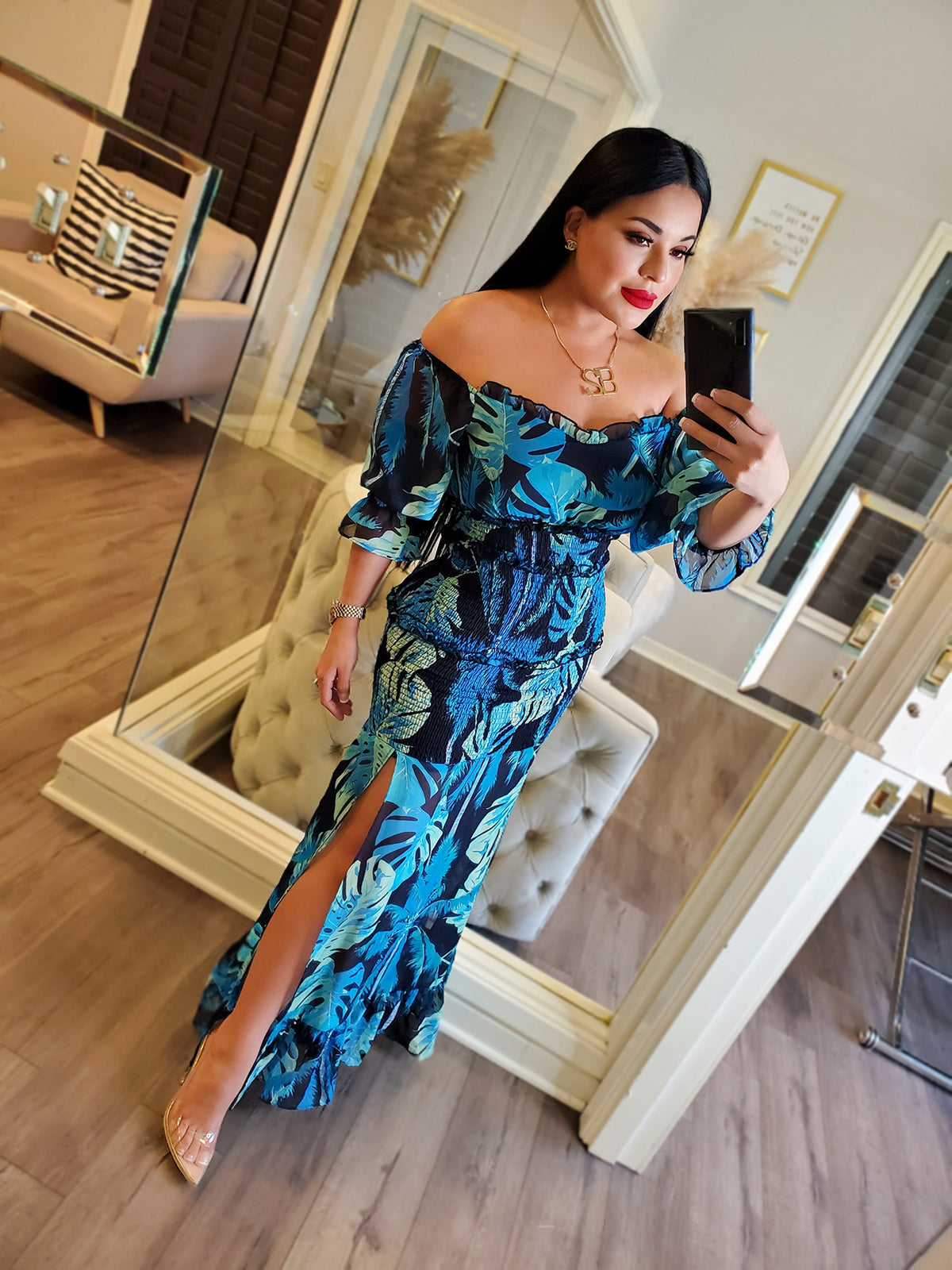 BLUE WITH ENVY DRESS
