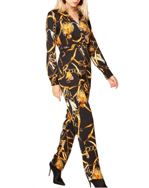 Black - Madonna High Waist Jumpsuit